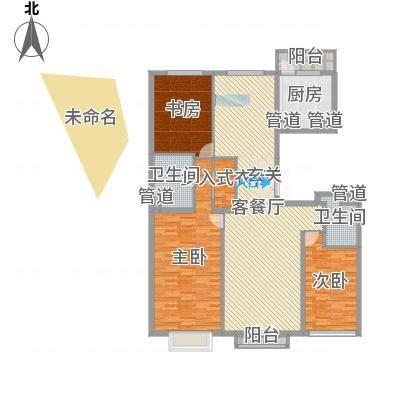 北京尊府185.00㎡�A户型3室2厅2卫1厨-副本