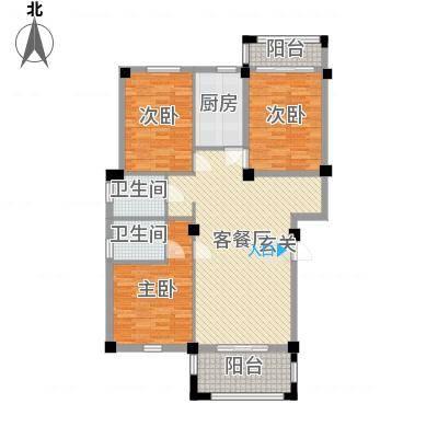 龙登和城13.83㎡和城G1-01户型3室2厅2卫1厨-副本