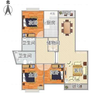 上海_中大丽都---134m2户型_2016-04-11-1557