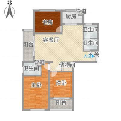 惠园125.00㎡惠园3室户型3室-副本