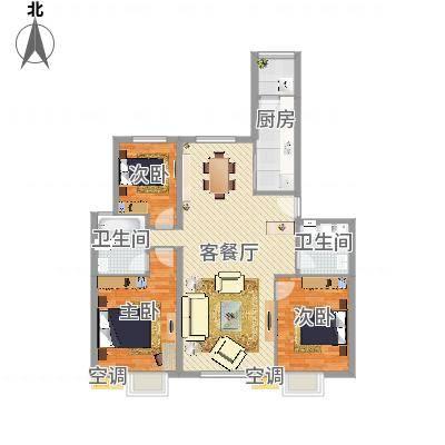 明楼东区三室两厅两卫(任务9)