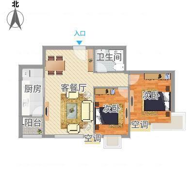 明楼东区两室一厅一卫(任务9)
