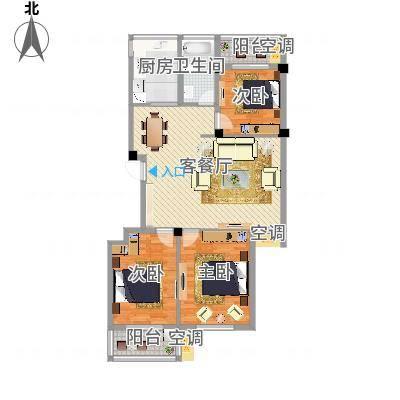 宁波柳岸晨韵A户型3室110.00㎡(任务8)