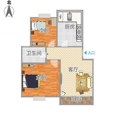 上海_新舒苑82平——设计方案