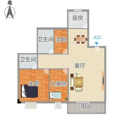 康湖山庄168.00㎡康湖山庄4室户型4室-副本