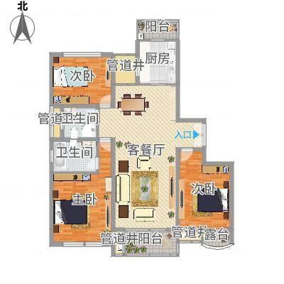 BOBO城3室2厅2卫1厨(任务1)