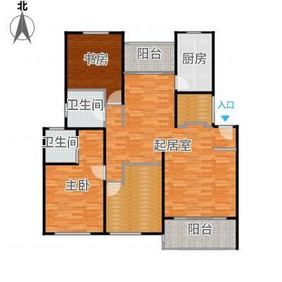良辰美景三期116.00㎡房型: 三房; 面积段: 116 -135 平方米;户型-副本