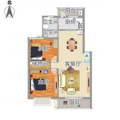 海光新都102室1厅1卫1厨(任务1)