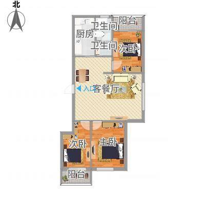 柳岸晨韵A户型3室110.00㎡(任务8)