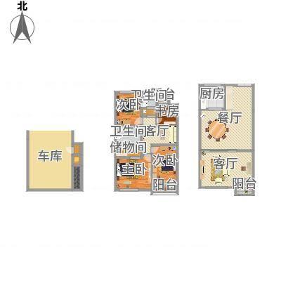 常青藤·小城叠式别墅B4室2厅1卫1厨(编号11)