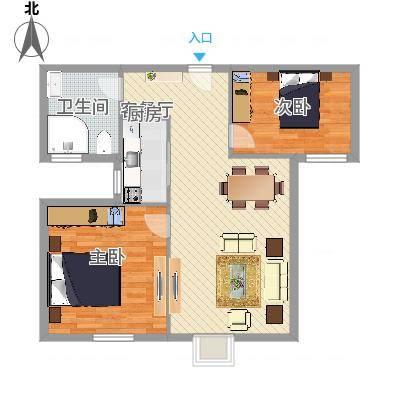 丽晶国际公寓两室一厅(任务2)
