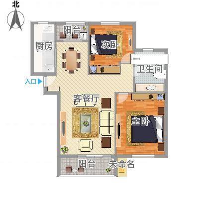 柳岸晨韵2室2厅2卫1厨(任务5)