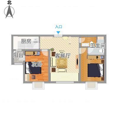 新华联广场B户型2室2厅-副本-副本-副本