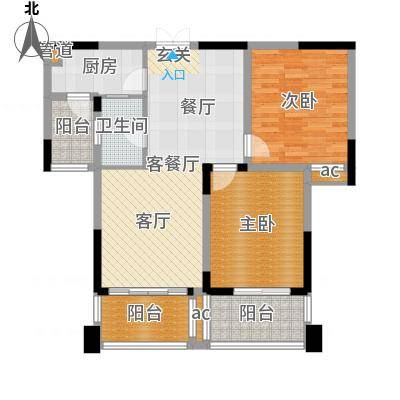 兰庭国际公馆89.00㎡户型-副本