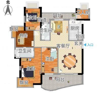钰海山庄162.33㎡第5栋01、0户型4室2厅2卫-副本