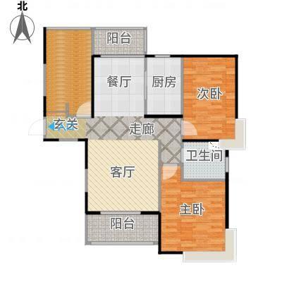 上海三湘海尚C3户型2室1厅1卫1厨-副本
