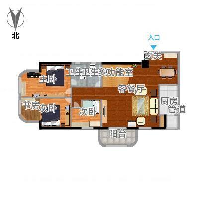 锦绣福城154.00㎡锦绣福城户型图4室2厅2卫户型10室-副本
