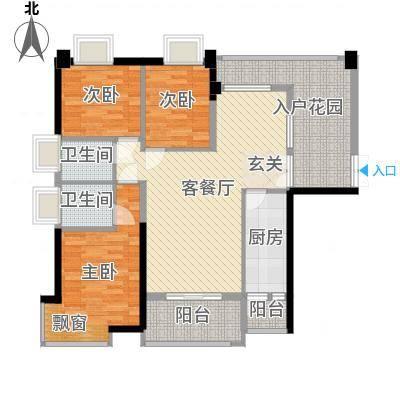 钰海山庄128.30㎡第1栋0户型3室2厅2卫-副本