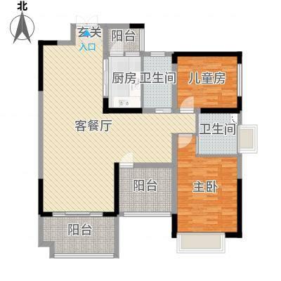 鼎峰源著1栋02户型2+1房2厅卫127㎡121-130㎡-副本