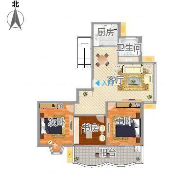 怡江春色三室两厅106平(任务6)