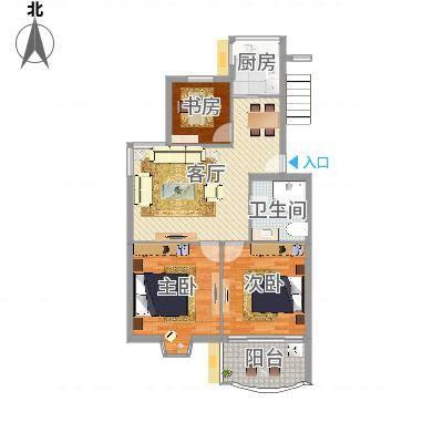 怡江春色两室两厅83平(任务6)