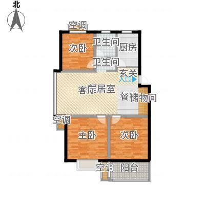 三禾城中城107.32㎡D户型 (建筑面积约107.32平米),三房二厅一卫户型3室2厅1卫-副本