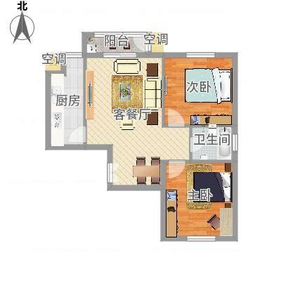 中央花园小区2室1厅1卫1厨(3)(任务4)