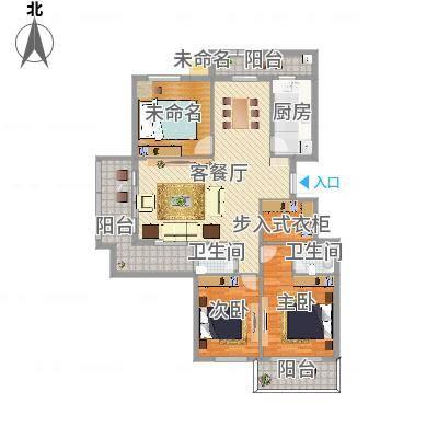 常青藤·小城星苑P户型3室2厅2卫1厨120.42㎡(任务2)
