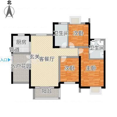 世纪城龙昌苑135.00㎡户型3室-副本