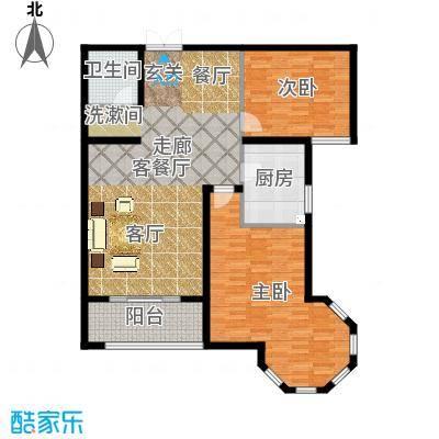 南阳桂花城御景117.22㎡3室2厅1卫1厨户型3室2厅1卫-副本