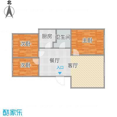 风情小镇三室两厅87.46平