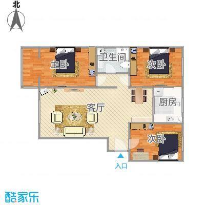 蓝波圣景-三室两厅