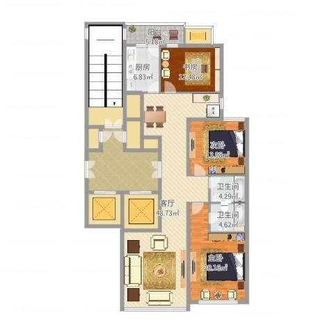 柳逸花苑B户型3室2厅2卫