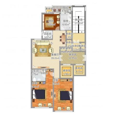 柳逸花苑C型3室2厅2卫163.41㎡