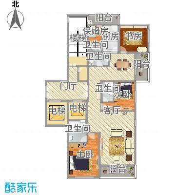 柳逸花苑D户型4室2厅4卫1厨