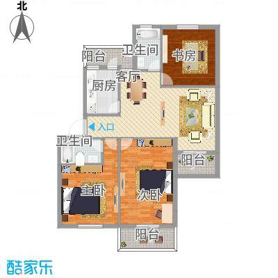 翠中小区3室2厅113平方米