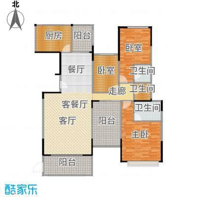 景湖荣郡138.00㎡N+户型1室1厅3卫1厨-副本