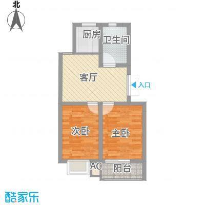 文昌北苑62.00㎡户型2室-副本