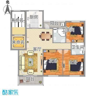 锦江花园3室2厅133平方米
