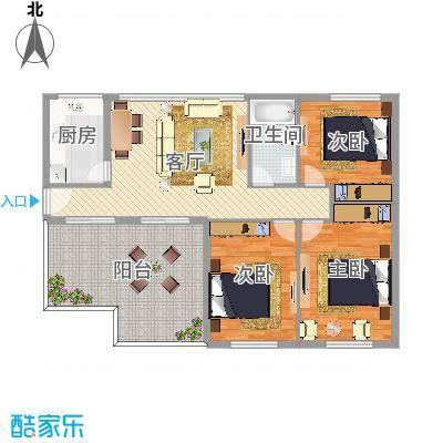 太阳公寓3室1厅1卫1厨