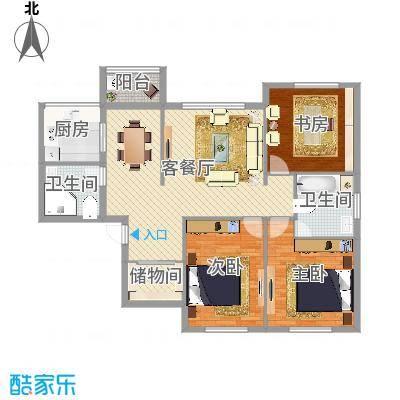 江北万达公寓三室两厅