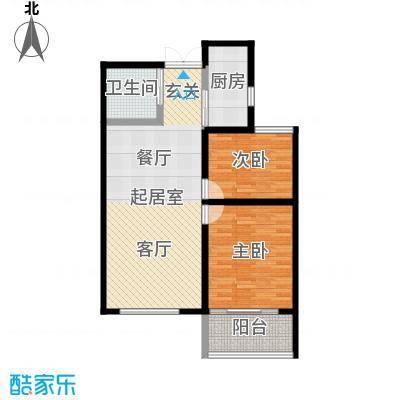 锦华广场未命名户型2室1卫1厨-副本