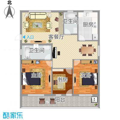 明荟博雅苑3室2厅2卫147㎡