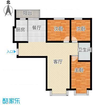 中海国际公寓143.59㎡户型3室1厅1卫1厨-副本