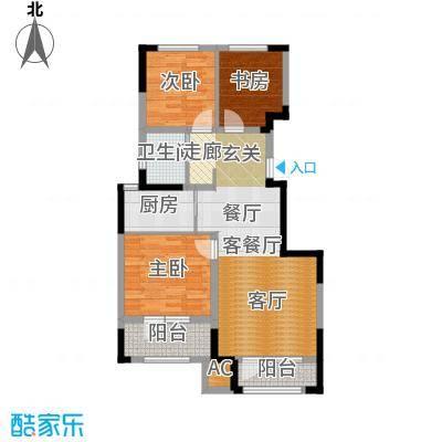 保利・春天里99.00㎡99平米户型3室2厅1卫-副本