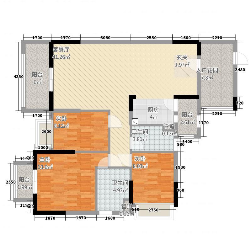 户型设计 华南城  广东 河源 华南城 套内面积:98.