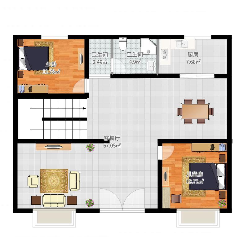 房屋结构图怎么画
