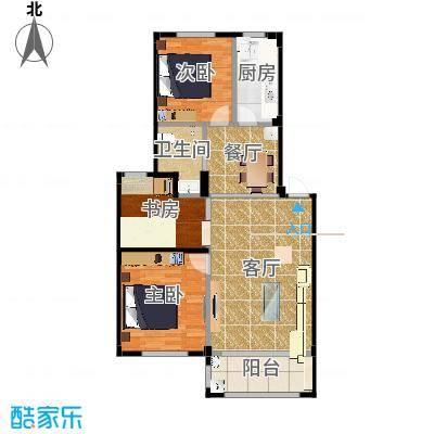 喜盛威尼斯三期92.92创意三房-内墙尺寸-户型修改-布局