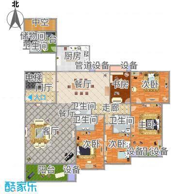 城市之星-128户型-3室2厅1卫