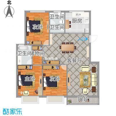 朱佳苑三室两卫——三房朝南小高层